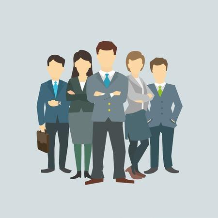 Illustrazione per Business group director chief boss. The company staff - Immagini Royalty Free