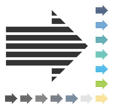 Illustration pour Stripe Arrow Right icon. Vector illustration style is flat iconic symbol in some color versions. - image libre de droit