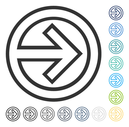 Illustration pour Import icon. Vector illustration style is flat iconic symbol in some color versions. - image libre de droit