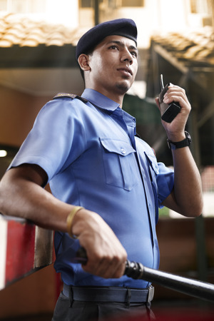 Foto de Security guard on duty - Imagen libre de derechos