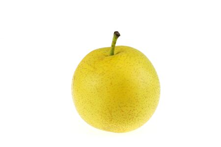 Photo pour single yellow Asian pear isolated on white background - image libre de droit