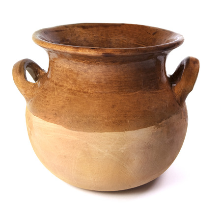 Photo pour Mexican Ceramic Pot On A White Background - image libre de droit