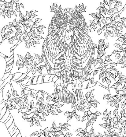 Illustration pour hand drawn coloring page - image libre de droit