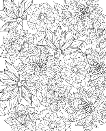 Illustration for hand drawn  coloring page - Royalty Free Image
