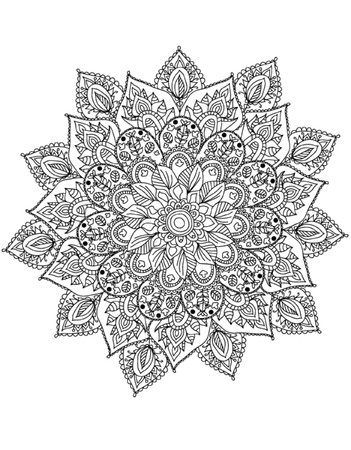 Illustration for Mandala Coloring Illustration - Royalty Free Image