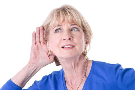 Foto de Older woman hearing - Imagen libre de derechos