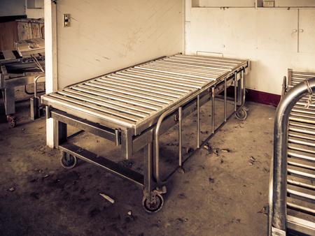 Foto de Hospital bed at abandoned mental hospital - Imagen libre de derechos