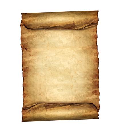 Foto de Antique blank paper scroll on white background - Imagen libre de derechos