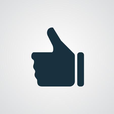 Illustration for Flat thumb up icon - Royalty Free Image