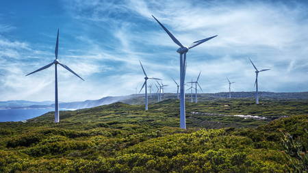 Photo for Wind turbines at the Albany Wind Farm, Western Australia - Royalty Free Image