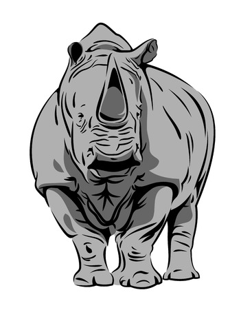 Illustration for Vector image of a rhinoceros - Royalty Free Image