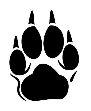 Ilustración de Vector footprint of a dog or a wolf - Imagen libre de derechos