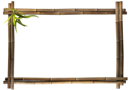 Photo for Bamboo frame brown landscape - Royalty Free Image