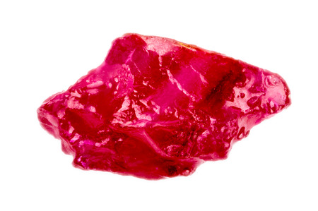 Photo for Bright pinkish red rough and uncut ruby crystal   - Royalty Free Image