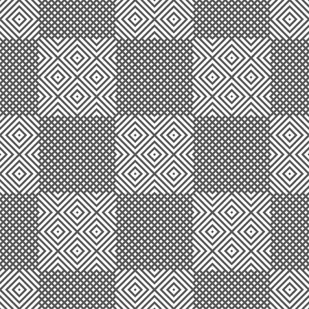Illustration pour Vector seamless pattern. Modern geometrical texture with rhombuses, which form regularly repeating checkered background. Trendy design. - image libre de droit