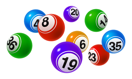 Ilustración de Vector Bingo, Lottery Colorful Number Balls Set - Imagen libre de derechos