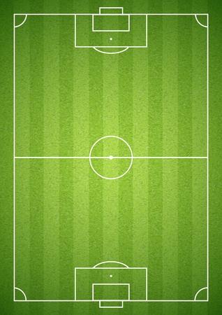 Illustration pour Soccer green field empty with grass texture. Vector illustration. - image libre de droit