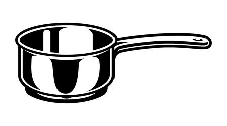 Illustration pour Vintage cooking saucepan concept - image libre de droit