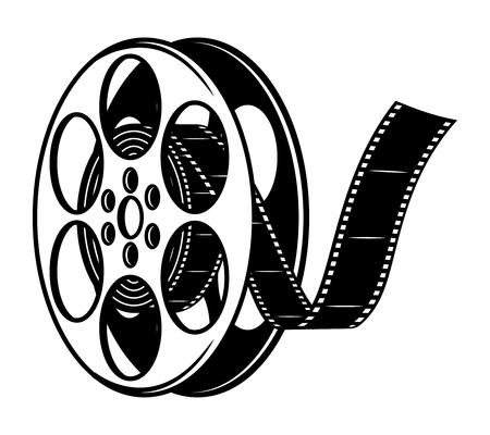 Illustration pour Vintage film reel concept - image libre de droit