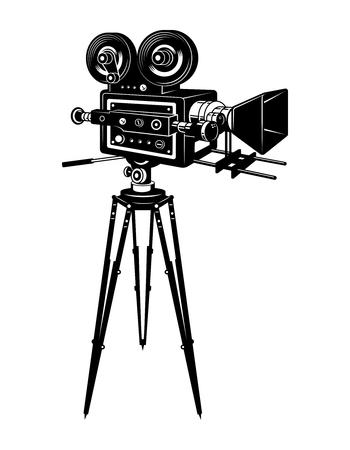 Ilustración de Retro movie camera concept - Imagen libre de derechos