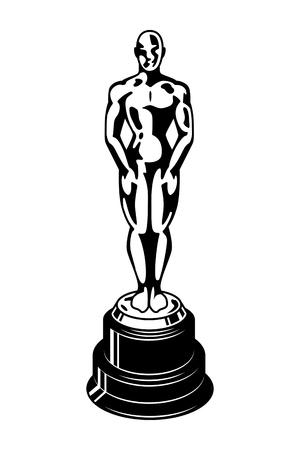 Illustration for Vintage oscar cinema academy award template - Royalty Free Image