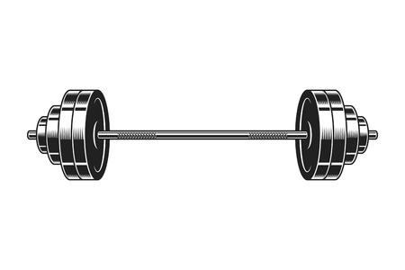 Ilustración de Vintage barbell for bodybuilding icon - Imagen libre de derechos