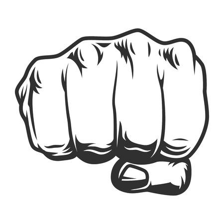 Ilustración de Vintage human fist punch concept - Imagen libre de derechos