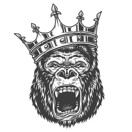 Illustration pour Head of gorilla - image libre de droit