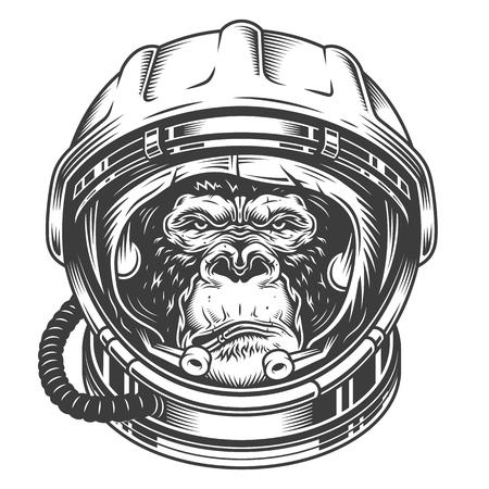 Ilustración de Head of gorilla - Imagen libre de derechos