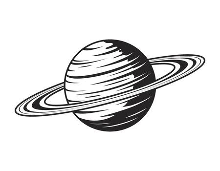 Ilustración de Vintage saturn planet concept - Imagen libre de derechos