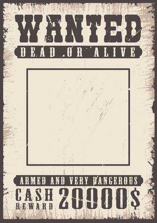 Illustration for wanted vintage poster - Royalty Free Image