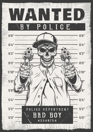 Ilustración de Wanted modern poster - Imagen libre de derechos
