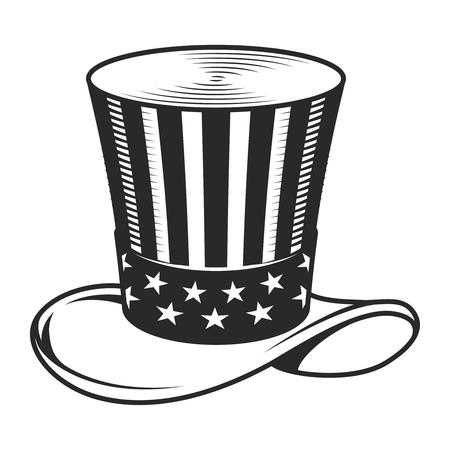 Illustration pour Vintage Uncle Sam hat template - image libre de droit