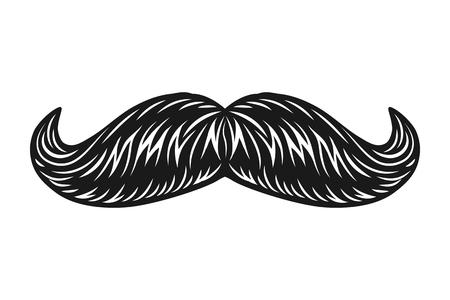 Illustration pour Vintage male facial mustache concept - image libre de droit