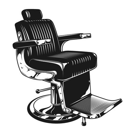 Illustration pour Vintage barbershop modern chair template - image libre de droit