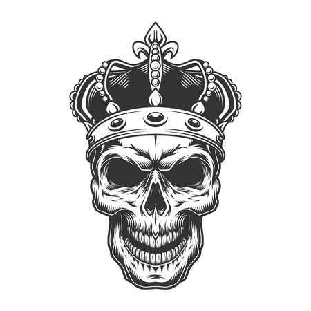 Illustration for Skull in the crown - Royalty Free Image