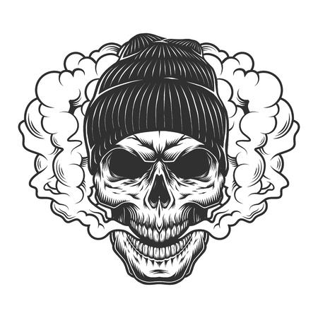 Ilustración de Skull vaper concept - Imagen libre de derechos