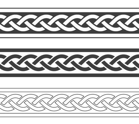 Ilustración de Vintage viking borders set, vector intage illustration - Imagen libre de derechos