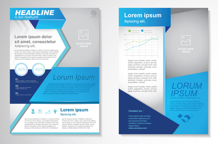 Illustration pour Vector Brochure Flyer design Layout template.infographic - image libre de droit