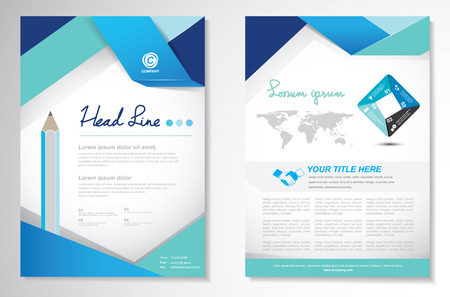 Foto per Vector Brochure Flyer design Layout template, size A4, Front page and back page, infographics. Easy to use and edit. - Immagine Royalty Free