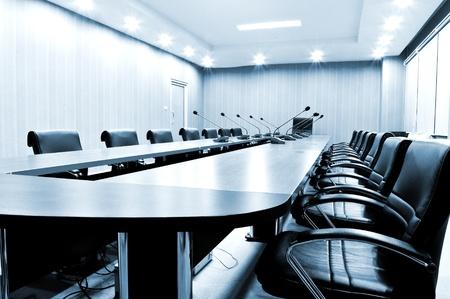 Foto de Chairs in Meeting room - blue tone  - Imagen libre de derechos