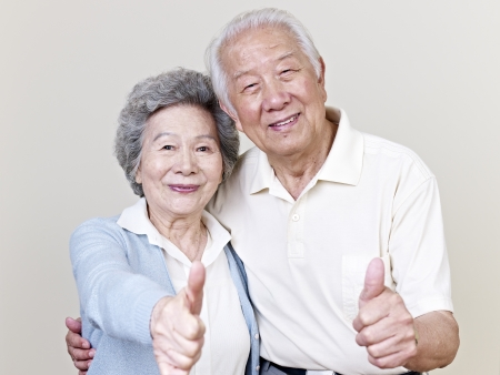 Photo for portrait of a senior asian couple  - Royalty Free Image