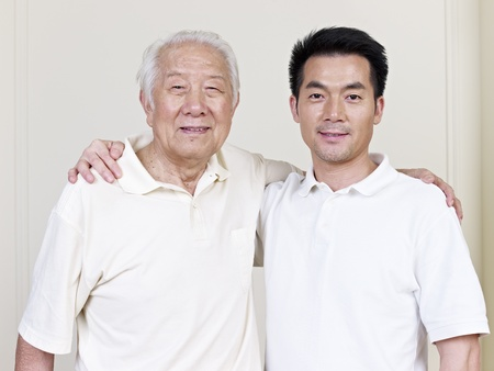 Photo for portrait of asian father and son  - Royalty Free Image