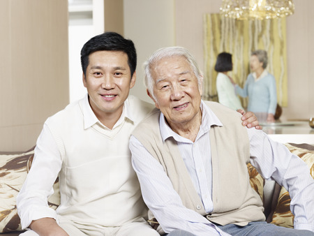 Photo for home portrait of asian father and son - Royalty Free Image