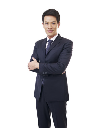 Photo for portrait of a young asian businessman, isolated on white  - Royalty Free Image