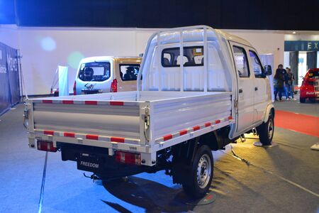 Foto de PASAY, PH - AUG. 17: Baic Freedom pick up at Transport and Logistics Philippines on August 17, 2019 in World Trade Center, Pasay, Philippines. - Imagen libre de derechos
