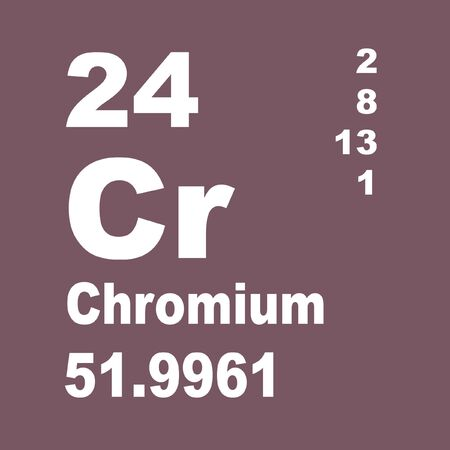 Photo pour Vanadium is a chemical element with symbol V and atomic number 23. - image libre de droit