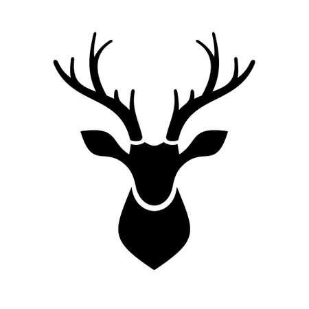 Foto de Deer Head Icon on white Background   - Imagen libre de derechos