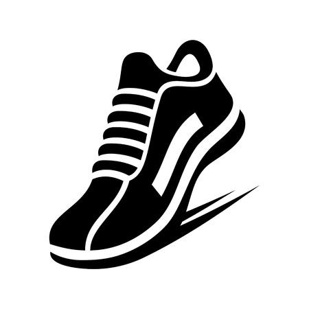 Ilustración de Running Shoe Icon on White Background - Imagen libre de derechos