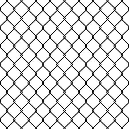Illustration pour Steel Wire Mesh Seamless Background. Vector illustration - image libre de droit